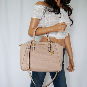 Michael Kors Ciara Large Satchel Bag Ballet Fawn